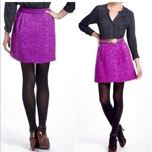 Anthro HD In Paris Anthro Brocade Purple Skirt-4